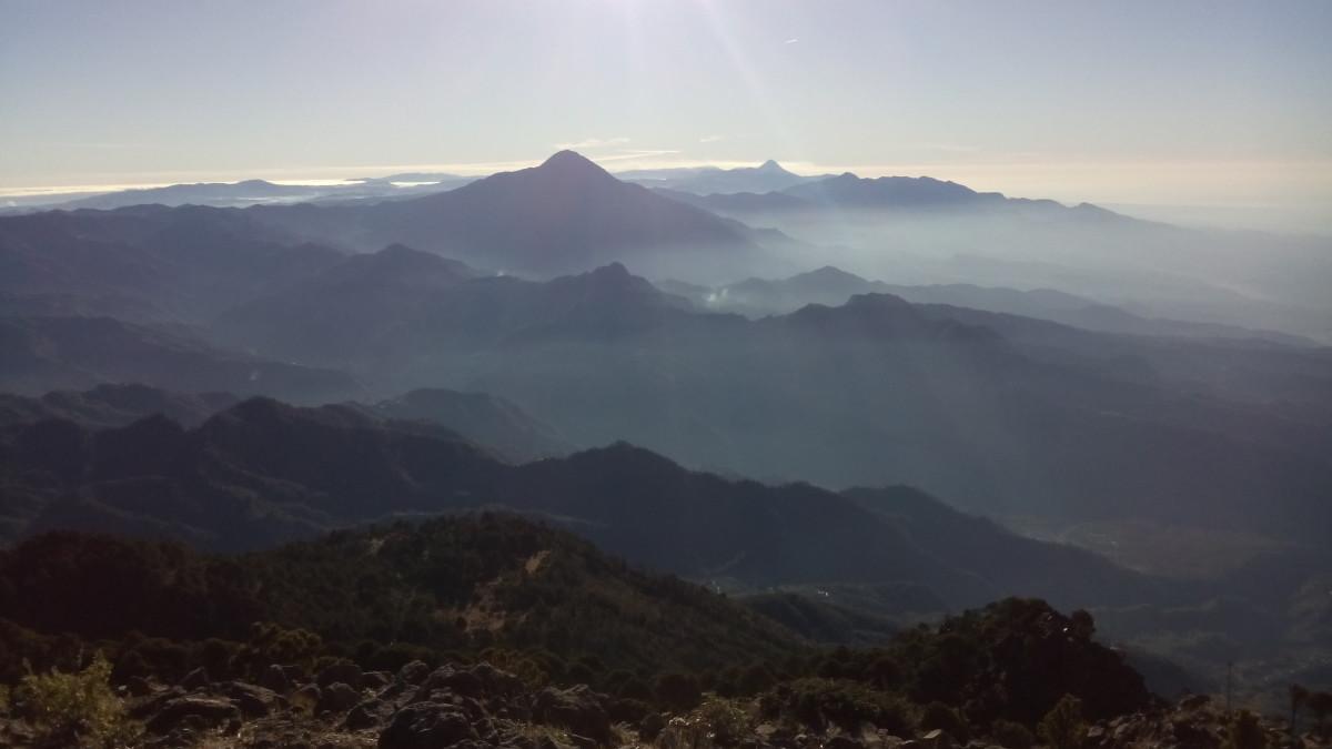 Aussicht vom Gipfel des Vulkans
